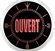 OUVERT Open Bar Beer Neon Enseigne Lumineuse LED Wall Clock
