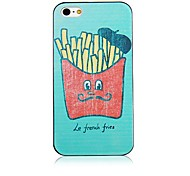 Design of French Fries Black Frame Back Case for iPhone 4/4S