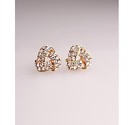 Fashion Korea Triangle Cute Imitation Diamond Stud Earrings for Women in Jewelry