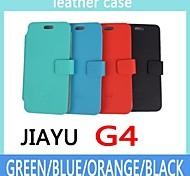 copertura della cassa della moda ultra sottile vibrazione del cuoio per smartphone Jiayu g4 a 4 colori