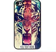 индивидуальный случай тигр случай узор металл для iPhone 4 / 4s