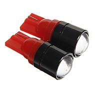 t10 1,5 W COB 120lm Rotlicht LED-Lampen für Auto Instrument / Seitenmarkierungsleuchte (12 V DC 2 Stück)