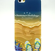Beach Slippers Pattern Pattern TPU Soft Cover for iPhone 6