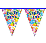 Multicolor Happy Birthday Balloon Flag Banner Party Accessory