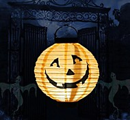 Toonykelly®Light Halloween Decorative Pumpkin Paper Lantern Smile Face MITB Party Supplies