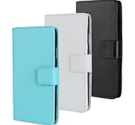 Solid Color Pattern PU Leather Full Body Case with Stand And Card Slot for HTC Desire 516