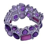 Lureme®Silicone Rple Crystal Elastic Bracelet
