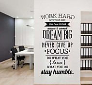 JiuBai® Dream Big Quote Inspiration Wall Sticker Wall Decal, 58*95CM