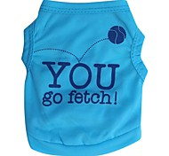 Cool Basketball And YOU Pattern Terylene Vest for Dogs (Blue XS-L)