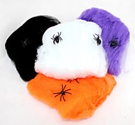 Spider Cotton Halloween Props Haunted House Decoration Color Random