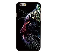 Tiger Head Style Plastic Hard Back Cover for iPhone 6