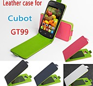 Hot Sale 100% PU Leather Colorful Flip Leather Case for Cubot GT95 Up and Down Smartphone 4-color