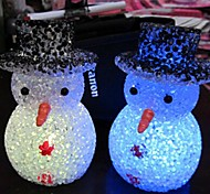 Coway Crystal Christmas Snowman Colorful LED Nightlight