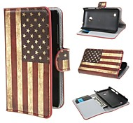 American USA Flag PU Leather Wallet Cover Case with Stand and Card Slot for Nokia Lumia 530