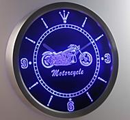 nc0355 servicios de venta de la bici de la motocicleta cartel de neón llevó reloj de pared