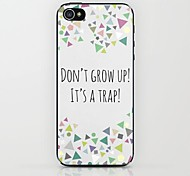 Do Not Grow Up Pattern Hard Case for iPhone 5/5S