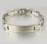 Herrenmode Persönlichkeit Titan Stahl Bibel Silber Armbänder
