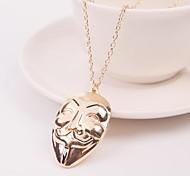 Fashion V for Vendetta Mask Vintage Chain Pendant Necklace