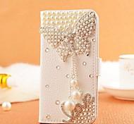 Diamant Perle Schmetterling PU-Leder Ganzkörper-Case mit Ständer und Card Slot für Samsung Galaxy S4 i9500