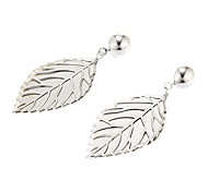 Vintage Double Leaf Shape Drop Earring(1 Pair)