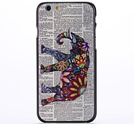 Paper and Elephant Embossment Pattern  PC Hard Case for iPhone 6