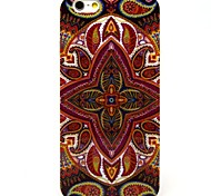 Brown Sun Flower Pattern TPU Soft Cover for iPhone 6