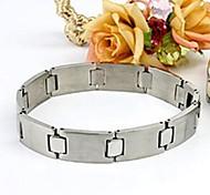 Men's Fashion Personality Silver Titanium Steel Glaze Bracelets
