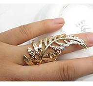 fashion golden Blattform Aussage Ring (1 PC)