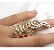 Fashion Golden Leaf Shape Statement Ring(1 Pc)