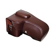 cámara protectora de cuero dengpin® cubierta de la bolsa caso para Nikon D5300 D5200 con lente 18-55mm (hebillas de color ramdon)