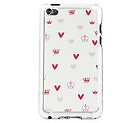 Cartoon Pink Crown  Leather Vein Pattern PC Hard Case for iPod touch 4