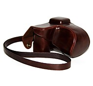Dengpin® Leather Protective Camera Case Bag Cover with Shoulder Strap for Sony NEX-5R NEX-5T 5R 5T with 18-55mm Lens