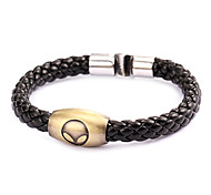 Punk Style Alien Face Alloy Leather Bracelet(1 Pc)