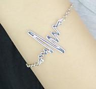 semplice braccialetto elettrocardiogramma delle donne