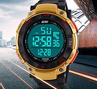 multifunzionale orologio lcd digitale elastico da polso sportivo da uomo (colori assortiti)