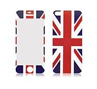 Angibabe UK Flag Front and Back Tempered Glass Screen Protector for iPhone 5/5S
