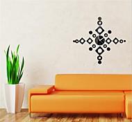 3D DIY Modern Style New Acrylic Mirror Wall Clock