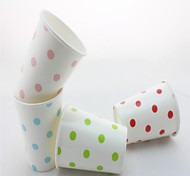 vente chaude polka éco-dot gobelets en papier tasses à café tasses d'eau pour partie (12 pcs)