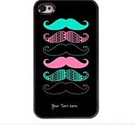 Personalized Gift Cool Mustache Design Metal Case for iPhone 4/4S