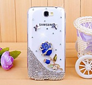 Diamond Rosy Blue Back Cover Case for SAMSUNG GALAXY Note 2 N7100