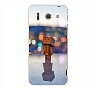 In the Lamp Light Wooden Man Design Hard Case for HuaWei G510