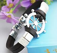 Vintage Rudder PU Handmade Bracelet Jewelry