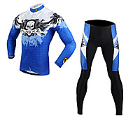 FJQXZ Men's Cycling Clothing Sets/Suits Long Sleeve Bike Spring / AutumnBreathable / Ultraviolet Resistant / Quick Dry / Front Zipper /