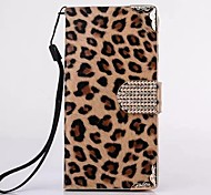 HHMM® Leopard Grain PU leather for iPhone 6 Case(Assorted Colors)