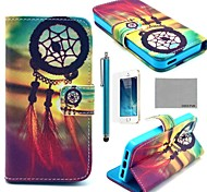 COCO FUN® Chinese knot Pattern PU Leather Full Body Case with Film, Stand and Stylus for iPhone 5/5S