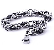 Men's Fashion Personality Exquisite Titanium Polycyclic Manual Bracelets