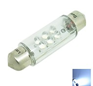 39MM 1W 6xLED 30-50LM 6500-7500K White Waterproof Reading Lamp License Lamp (DC12V)