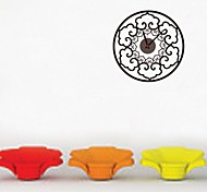 ZOOYOO® Electronic battery clock DIY round flower shape wall clock wall sticker home decor for room