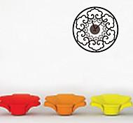 zooyoo® elektronischen Batterie Uhr diy runder Blütenform Wanduhr Wandaufkleberausgangsdekor für Zimmer