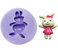 Rabbit Fondant Cake Chocolate Resin Clay Candy Silicone Mold,L3.1cm*W3cm*H1cm